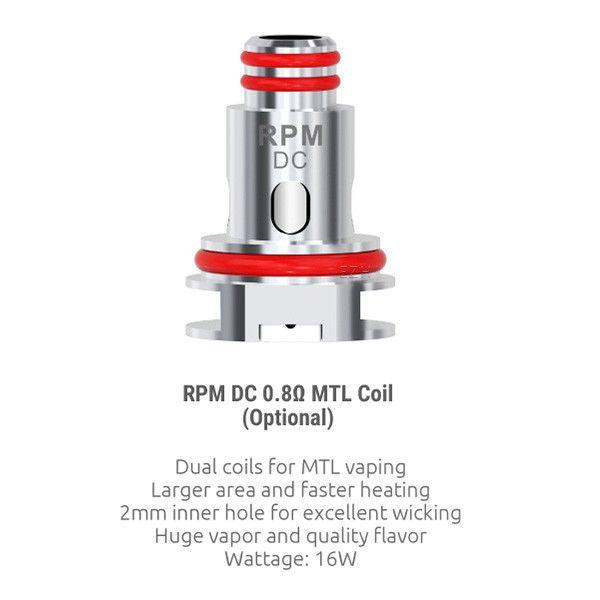 5x SMOK RPM DC MTL Coil Verdampferkopf