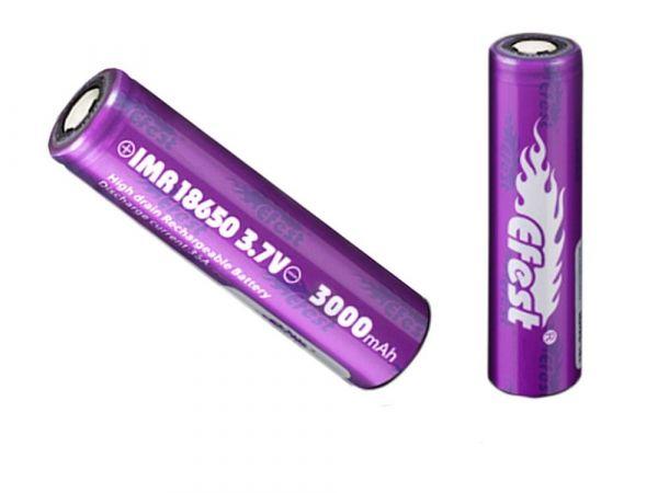 Efest Purple IMR 18650 3000mAh Hochstrom Akku